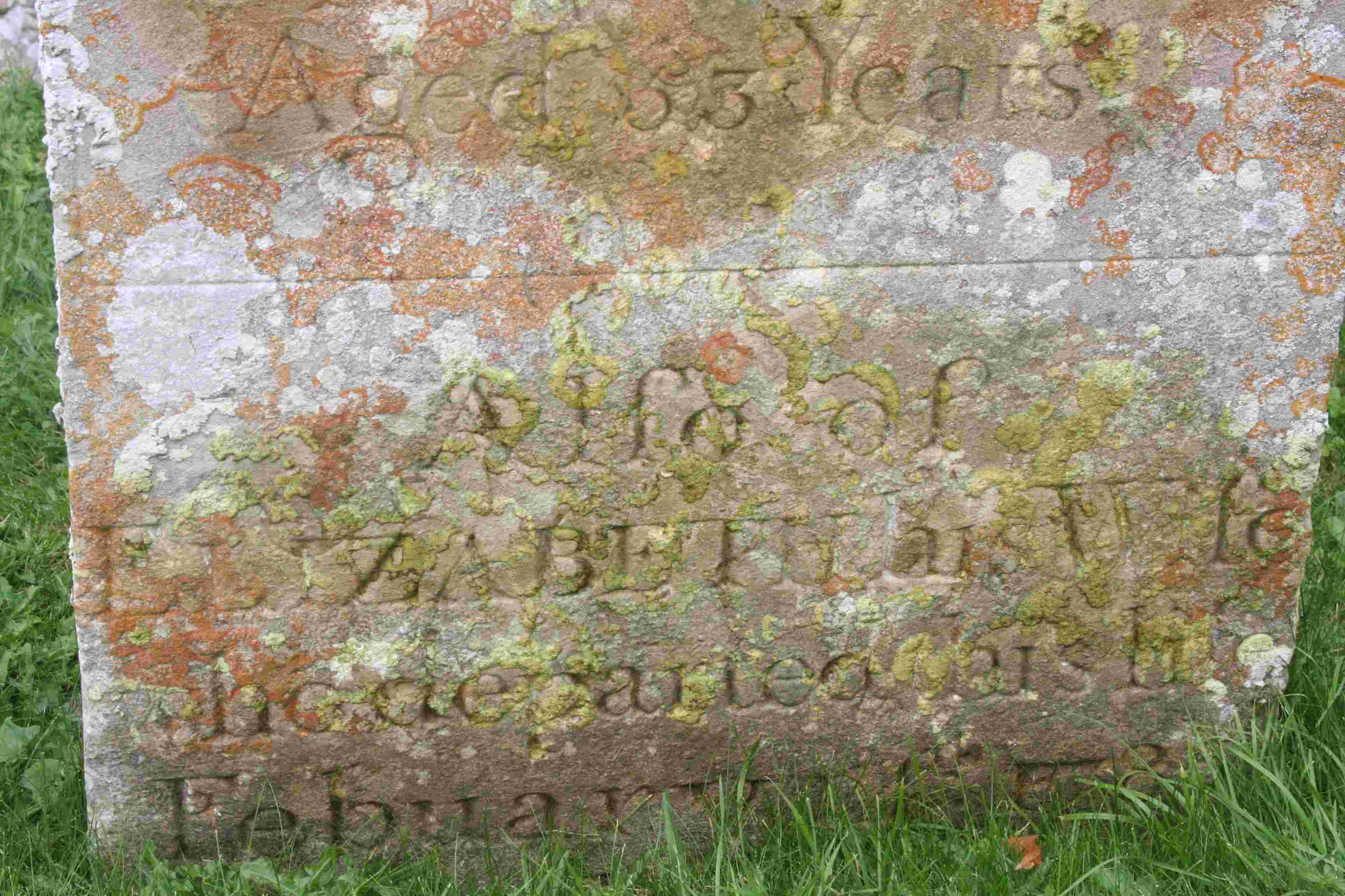 headstone after using soap liquid
